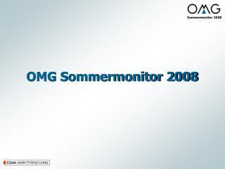 OMG Sommermonitor 2008