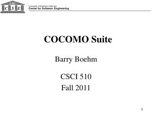 COCOMO  Suite