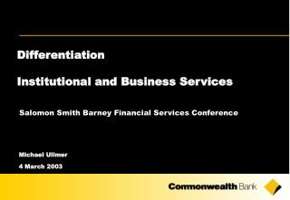 Differentiation Institutional and Business Services