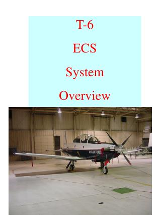 T-6  ECS  System Overview