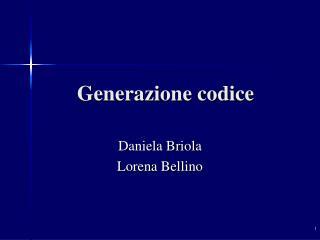 Generazione codice