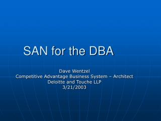 SAN for the DBA