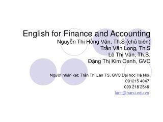 Người nhận xét: Trần Thị Lan TS, GVC Đại học Hà Nội 091215 4047 090 218 2546 lantt@hanu.vn