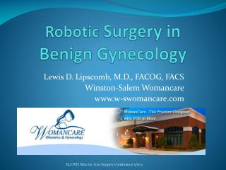 Robotic  Surgery in Benign Gynecology