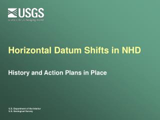 Horizontal Datum Shifts in NHD