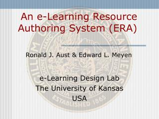An e-Learning Resource Authoring System (ERA)