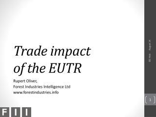 Trade  impact  of the  EUTR