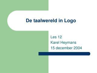 De taalwereld in Logo