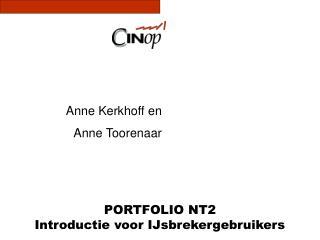 PORTFOLIO NT2 Introductie voor IJsbrekergebruikers