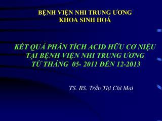 TS. BS.  Trần Thi ̣ Chi Mai