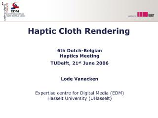 Haptic Cloth Rendering