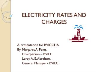 ELECTRICITY RATES AND CHARGES