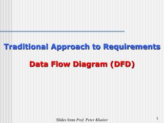 Traditional Approach to Requirements Data Flow Diagram (DFD)