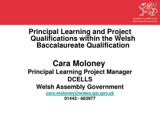 Principal Learning and Project Qualifications within the Welsh Baccalaureate Qualification