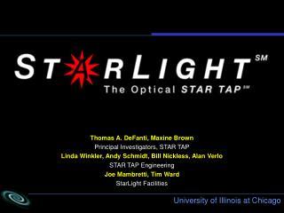 Thomas A. DeFanti, Maxine Brown Principal Investigators, STAR TAP