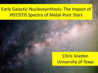 Early Galactic Nucleosynthesis: The Impact of HST/STIS Spectra of Metal-Poor Stars