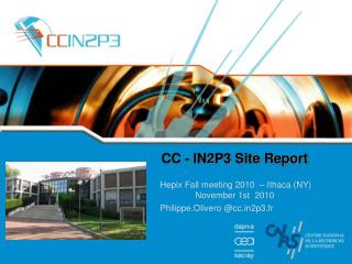 CC - IN2P3 Site Report