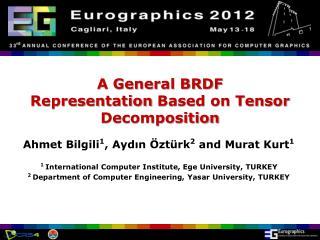 A General BRDF  Representation Based on Tensor Decomposition