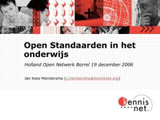 Open Standaarden in het onderwijs