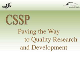 Paving the Way  			to Quality Research  	and Development