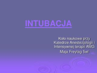 INTUBACJA