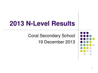 2013 N-Level Results
