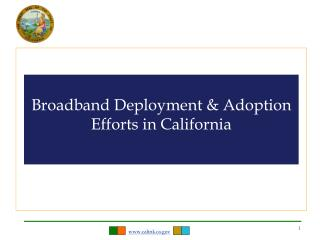 Broadband Deployment & Adoption Efforts in California
