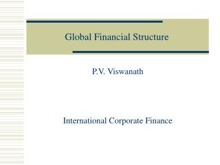 Global Financial Structure