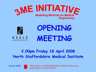 Modelling Methods for Medical Engineering