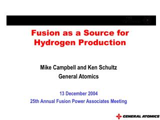Fusion as a Source for Hydrogen Production