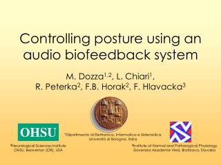 Controlling posture using an audio biofeedback system