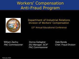 Workers  Compensation Anti-Fraud Program