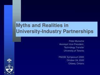 Myths and Realities in University-Industry Partnerships