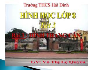 Trường  THCS  Hải Đình