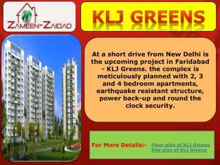 KLJ Greens.KLJ Greens Sector-77.KLJ Greens Faridabad.