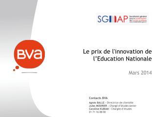 Le prix de l'innovation de l'Education Nationale Mars 2014