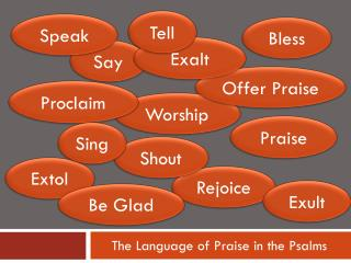 The Language of Praise in the Psalms