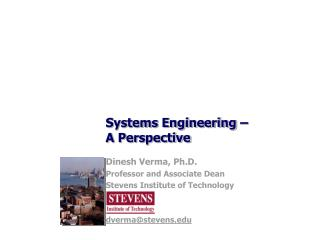 Systems Engineering –  A Perspective