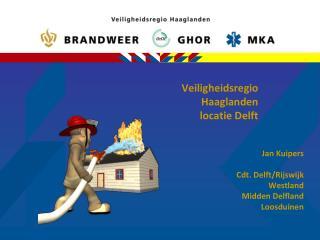 Veiligheidsregio  Haaglanden locatie Delft
