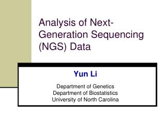 Analysis of Next-Generation Sequencing (NGS) Data