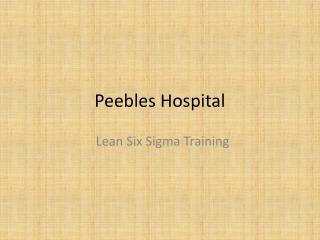Peebles Hospital