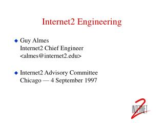 Internet2 Engineering