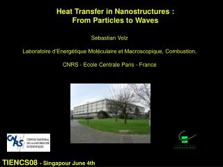 Heat Transfer in Nanostructures :  From Particles to Waves