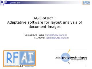 AGORA 2007  :  Adaptative software for  layout  analysis of document images