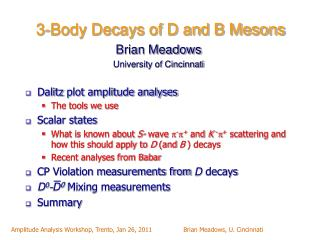 3-Body Decays of D and B Mesons