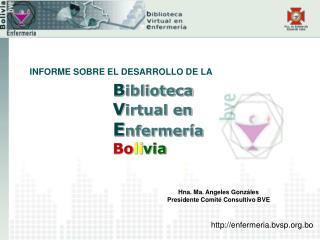 B iblioteca V irtual en E nfermería Bo li via