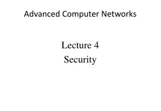 Advanced Computer Networks