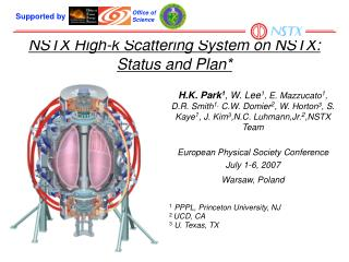 NSTX High-k Scattering System on NSTX: Status and Plan*