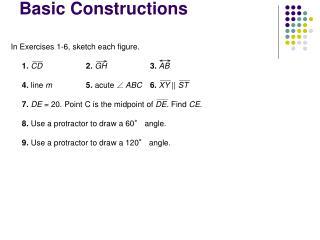 Basic Constructions