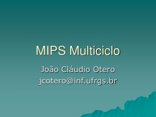 MIPS Multiciclo